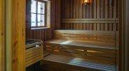 Zugspitzbad Grainau Sauna Innenbereich Blockhaussauna, © Tourist-Information Grainau - Anton Ostler