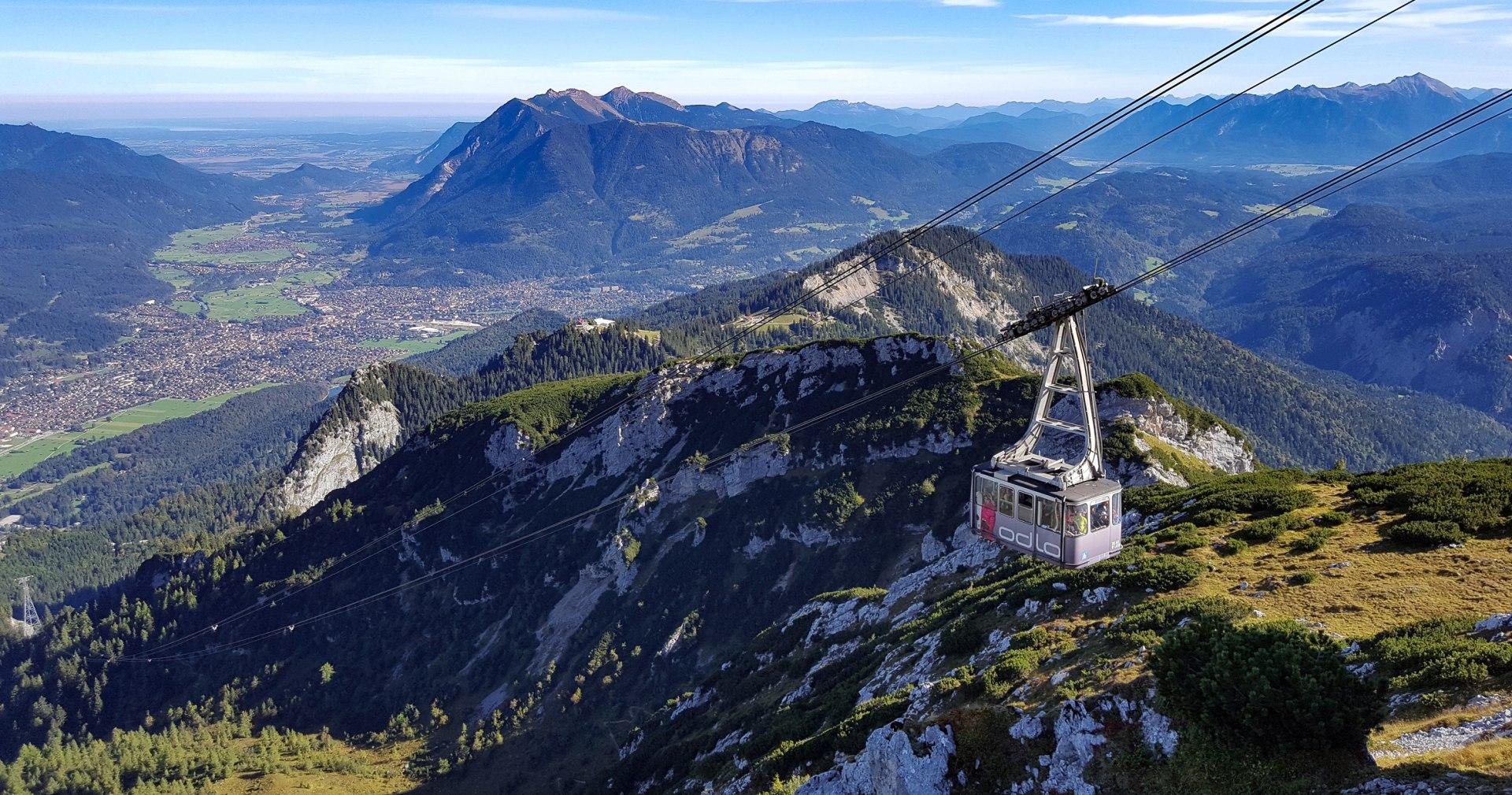 Alpspitzbahn summer with view to Munich, © Nicki Fischer