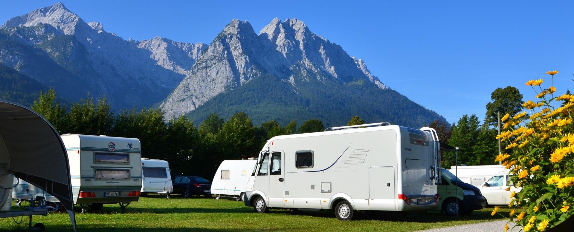 Bergkulisse Campingplatz, © Campingplatz Grainau