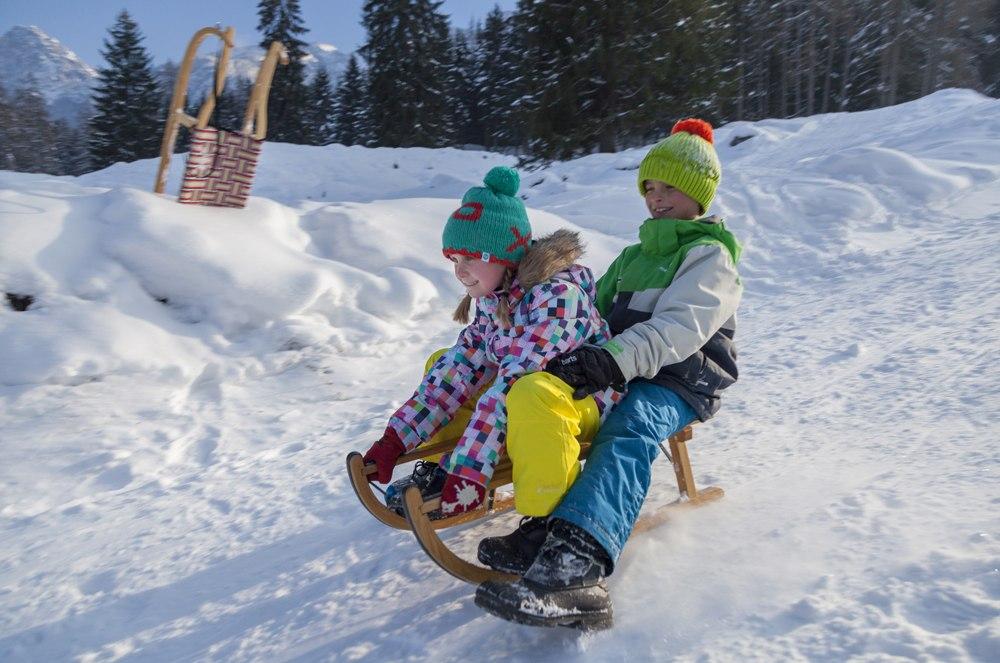 Winterspaß in Grainau, © Baeck