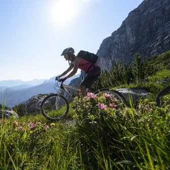Mountainbiken in Grainau, © Zugspitzregion - Foto Ehn