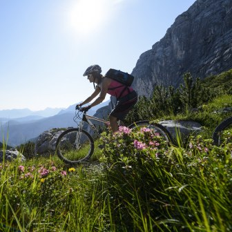 Mountainbiking in Grainau, © Zugspitzregion - Foto Ehn