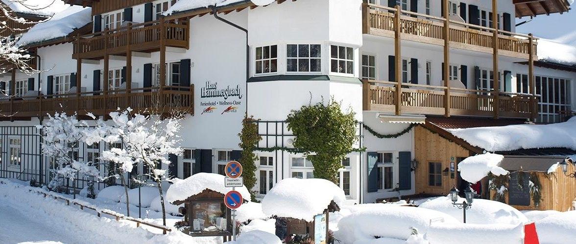 Berghotel Hammersbach im Schnee