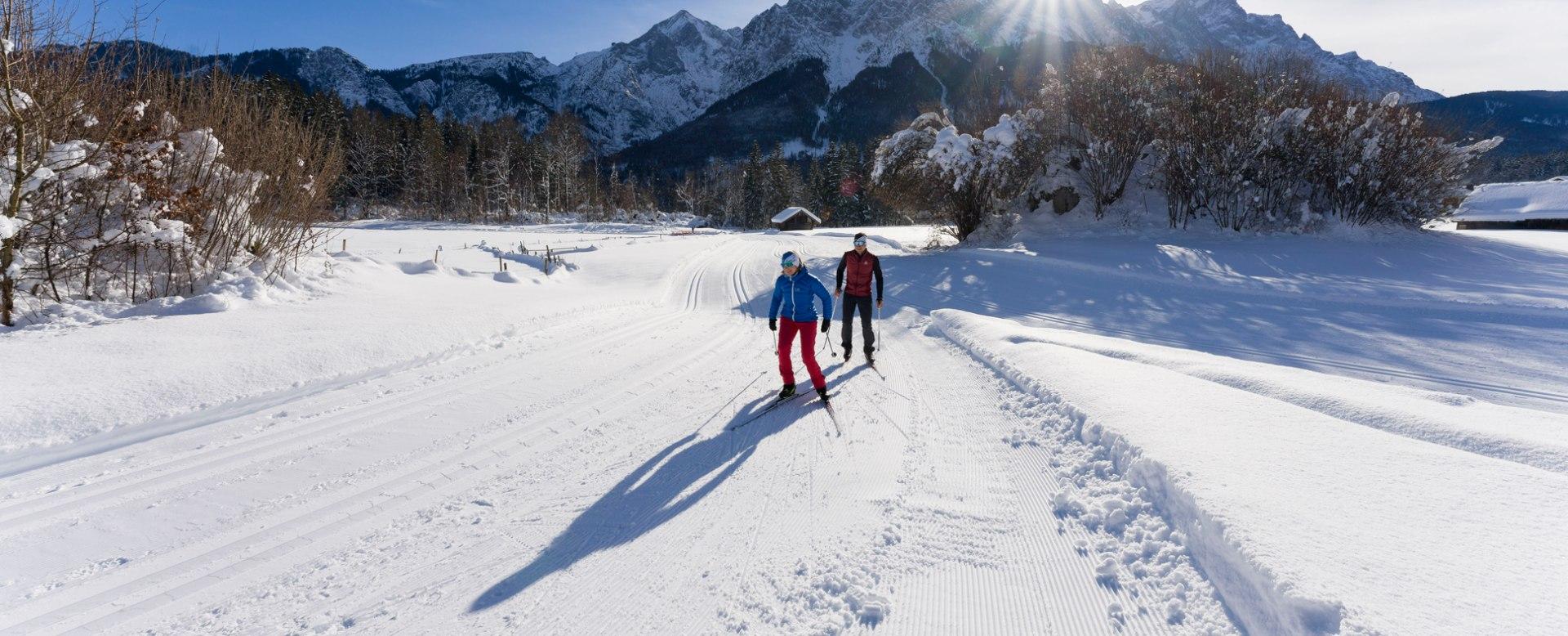 Cross-country skiing in Grainau, © Zugspitzdorf Grainau - WEhn