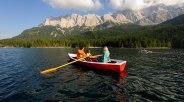 Eibsee mit Ruderboot, Sommer, Grainau, © Touristinformation Grainau - Foto Ehn