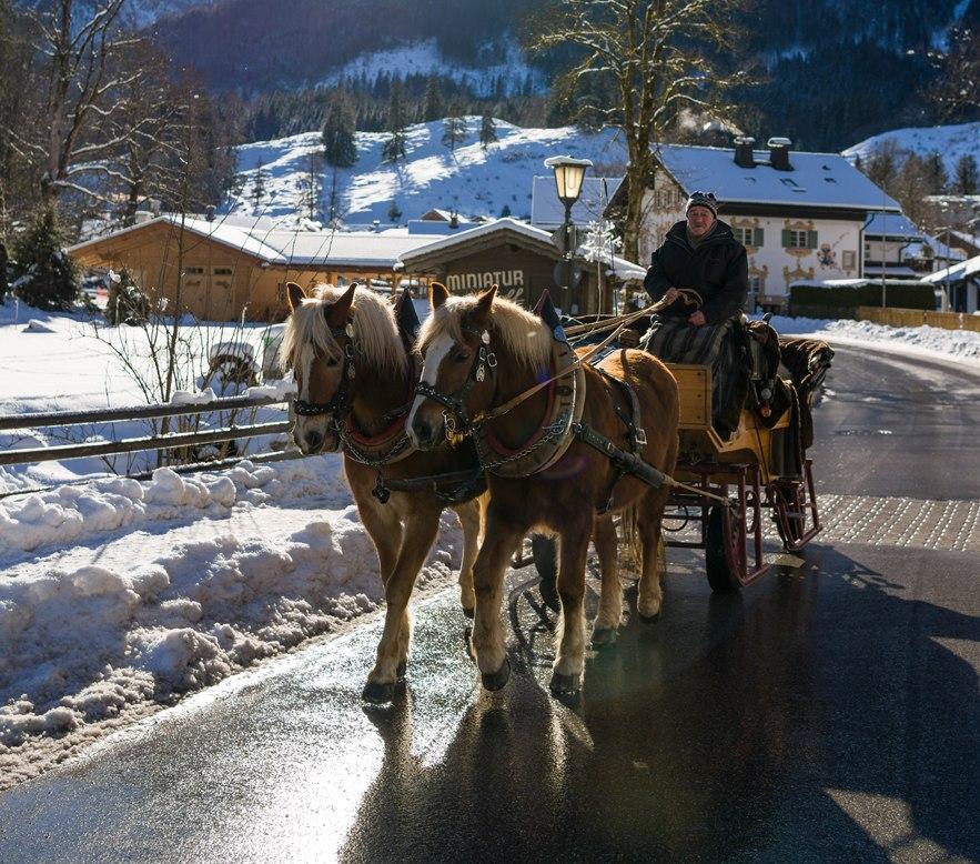 Pferdekutschfahrt im Winter, © Tourist Information Grainau - Wolfgang Ehn