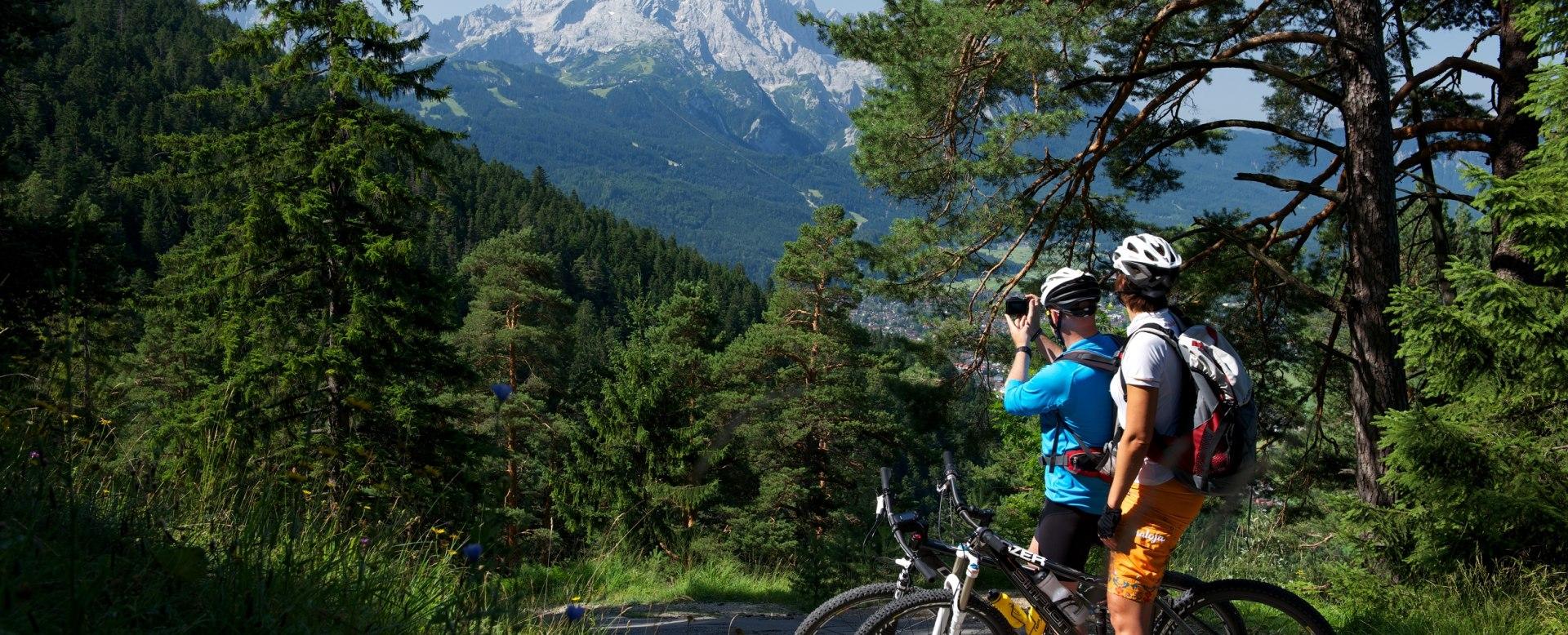 Mountainbiking in Grainau, © Zugspitzland