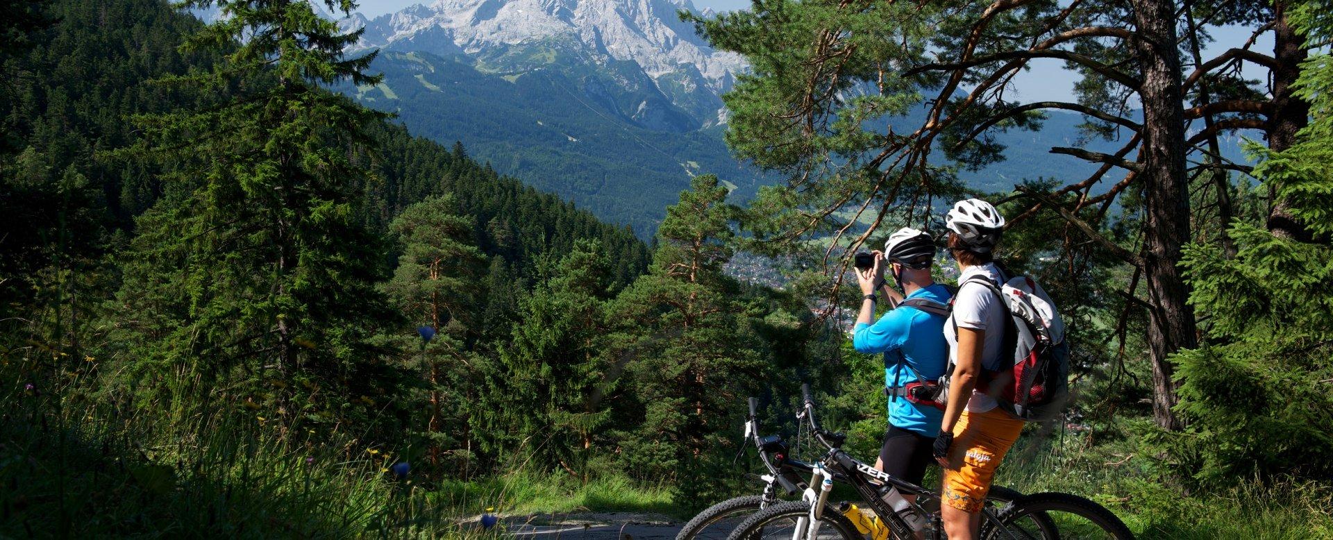 Mountainbiken in Grainau, © Zugspitzland