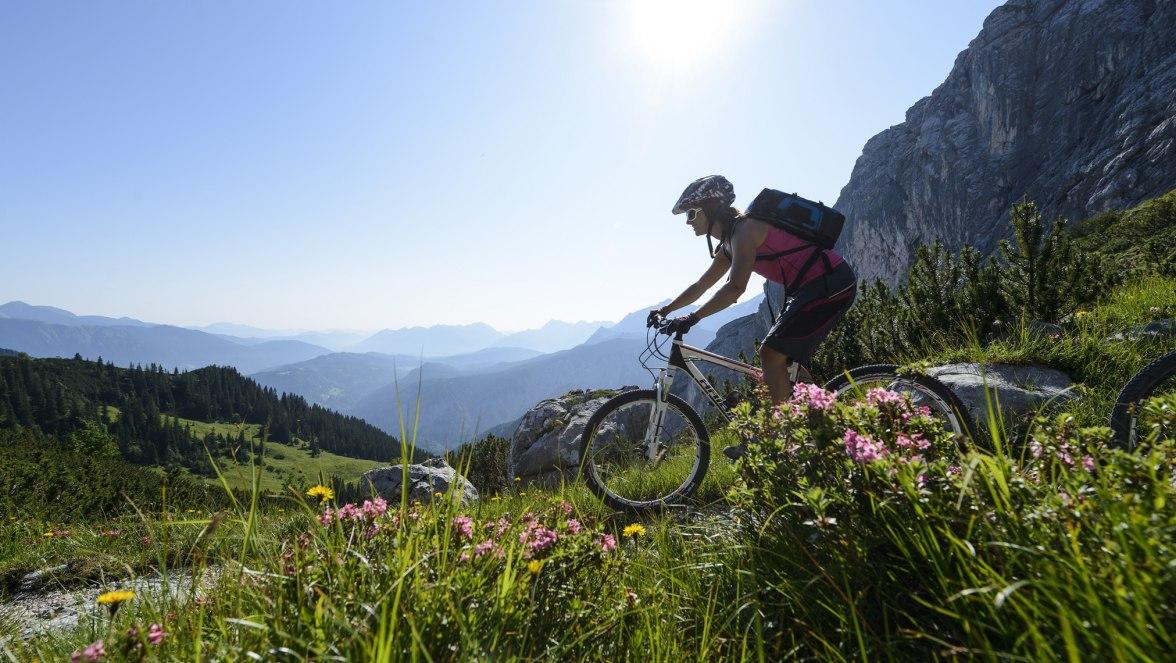 Mountainbiken in Grainau, © Zugspitzregion - Foto Ehn