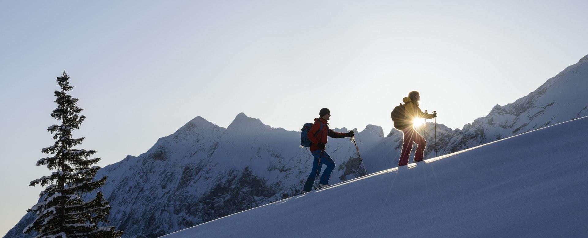 Skitouren im Zugspitzdorf Grainau, © Zugspitzregion - Foto Ehn