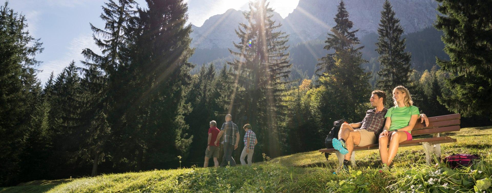 Wandern in Grainau, © Zugspitzarena Bayern Tirol
